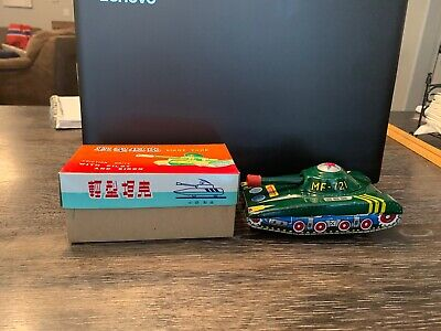 Vintage 1960's Friction MF-721 Tank W/Box Excellent Condition