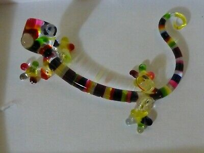 Miniature Glass Chameleon Colorful, Exceptional, Artistic Work EX