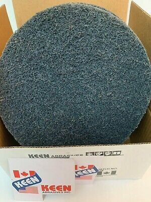 """10- Pack, Very Fine 4"""" Hook Surface Conditioning Discs, KEEN Abrasives #55483"""