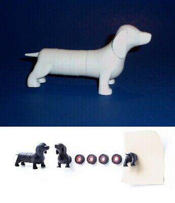 Dachshund Dog Puzzle Magnet - Magnetic Figure in White