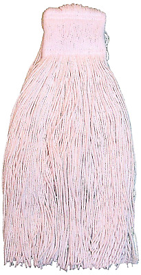 Zephyr Mop Heads Case Lot Synthetic Z Ray 4-ply 17632 Mesh Band Cut End 12 Pack