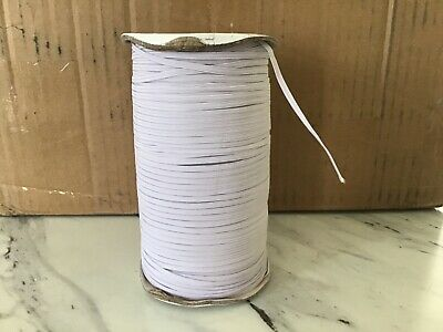 Roll 3mm 1/8 inch Flat Mask Elastic white 200 yards from Canada