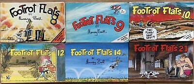 Six x FOOTROT FLATS 1980's Issue Comic Books by Murray Ball No.8,9,10,12,14 & 21