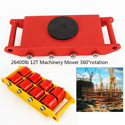 12T Load Durabel Cast Steel Red Machinery Mover Handling Equipment 360°Rotation