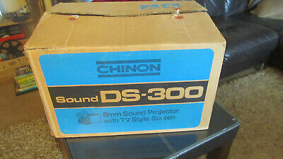 Chinon DS-300 Super 8 Sound Projector with TV Style Screen Incl.Superman 400ft