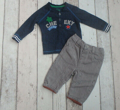 ** FAB Baby Boy Top & Trousers Outfit - TU & F&F (3 - 6 months) **