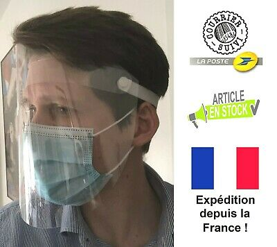 Lot de 5 - Visière de protection anti-projection / masque - 29x22cm !