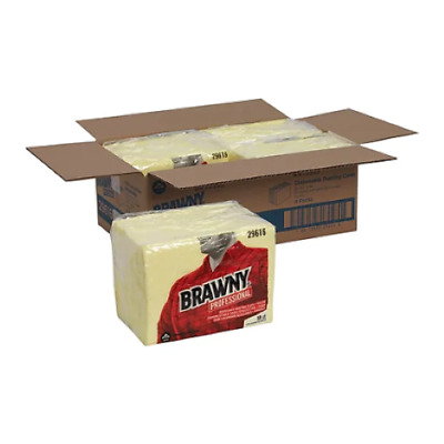 Brawny Professional Disposable Dusting Cloth, Yellow, 50/Pack, 4pk/case (29616)