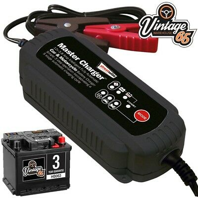 Classic Car Fully Automatic Intelligent 3.8 Amp 12v Battery Trickle Charger