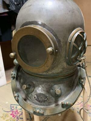 Japanese Antique Diving Helmet TOA with Nameplate Marine Vintage Very Rare Q6