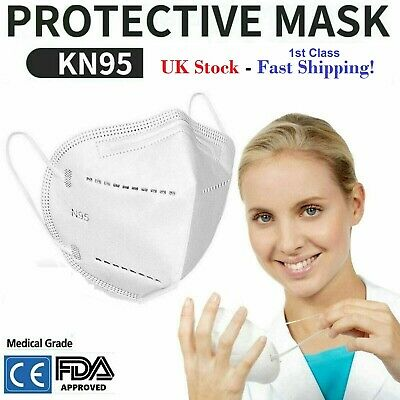 UK Stock - Approved anti-19 Face Mask PM2.5 Anti Pollution filter anti haze