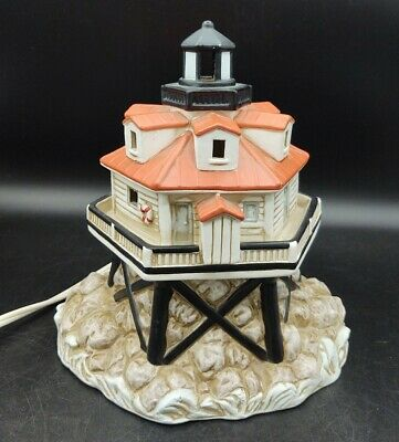 Vintage Lefton Lighthouse Lamp Thomas Point Nightlight Light