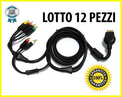 Lotto 12X Cable Av Component HD Audio Vídeo Compuesto Rca PS3 PS2 PLAYSTATION