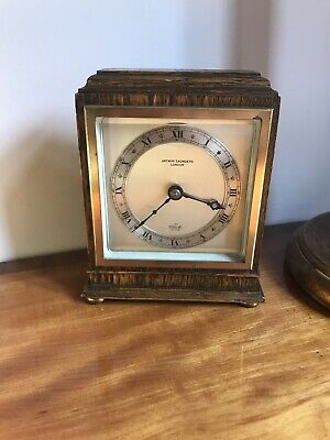 Rare Mantel Clock By Arthur Saunders. English Made