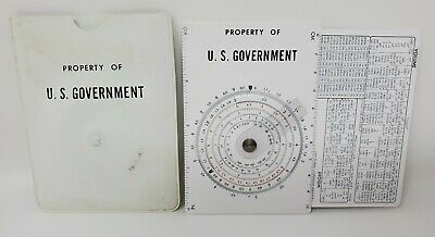 Concise CTCS-552 Circular Slide Rule, Property US Government, 1966