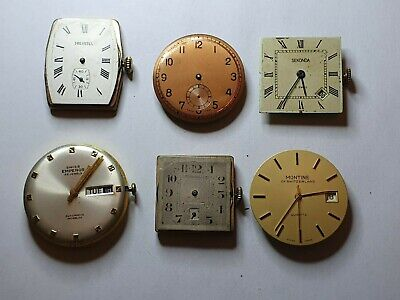 Vintage gents size watch movements watchmaker lot for parts Helvetia Emperor