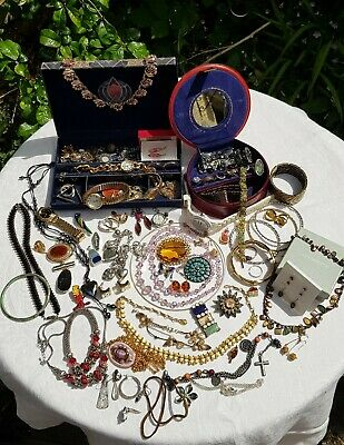 House Clearance Job Lot Vintage /modern Costume Jewellery incl scrap 925 silver