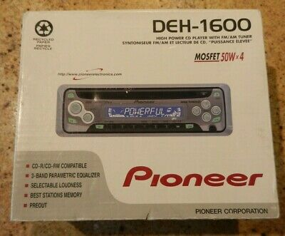 Pioneer High Power CD Player With FM/AM Tuner (DEH-1600)