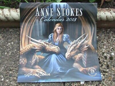 Autographed by Anne Stokes 2018 calendar used