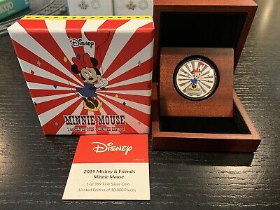 Minnie Mouse 1oz Silver Coin - Carnival Collection - Mickey And Friends - 2019