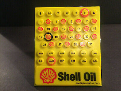 Vintage Shell Oil Gas Stand-up Display Calendar
