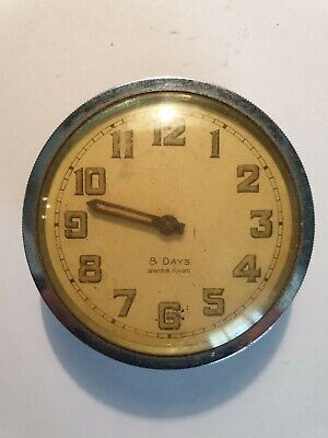 Vintage Swiss 8 Day Small Clock Movement Spares or Repair