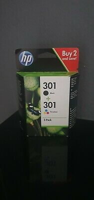 Genuine HP 301 Combo ink cartridges BLACK and TRI COLOUR