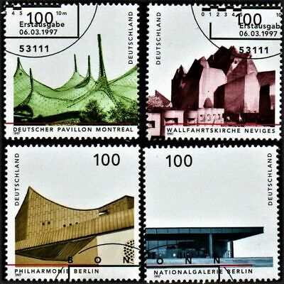 OLD STAMPS GERMANY 1997 cv£10.50 GERMAN ARCHITECTURE USED