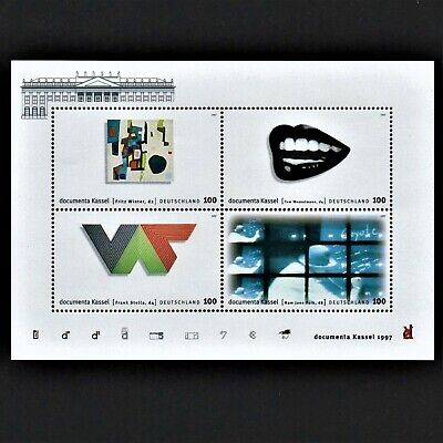 OLD STAMPS GERMANY MS 1997 CV£9.25 Tenth Documenta Modern Art Exhibition MINT