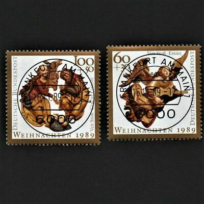 OLD STAMPS GERMANY 1989 cv£4.85 FULL SET GERMAN CHRISTMAS USED UNH