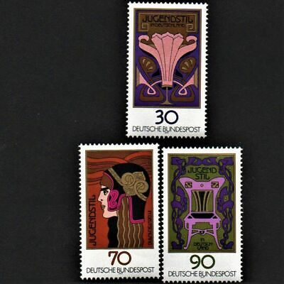 OLD STAMPS GERMANY X 3 - 1977 cv£4.25 GERMAN ART NOUVEAU MNH MINT FULL GUM