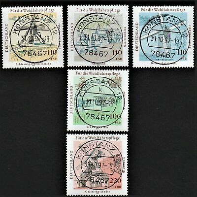 OLD STAMPS GERMANY 1997 cv£21.50 GERMAN MILLS USED PREVIOUSLY HINGED