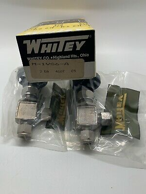 Box Of 2 Whitey SS-1VS6-A Manual Stainless Needle Valve 3/8in Tube