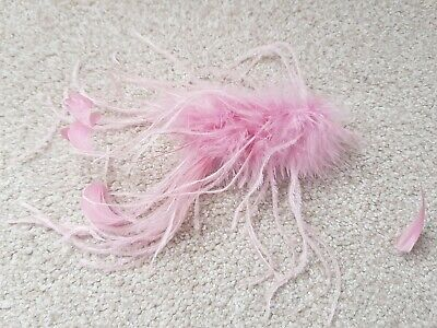 Dusky Pink Fluffy Feather Fascinator
