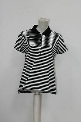 Tommy Hilfiger Women's Polo Top, Black, Size Large