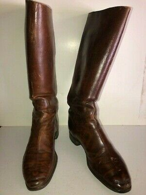 Clean Antique Military Cavalry Boots Made By A. E. Nettleton Co. Syracuse NY