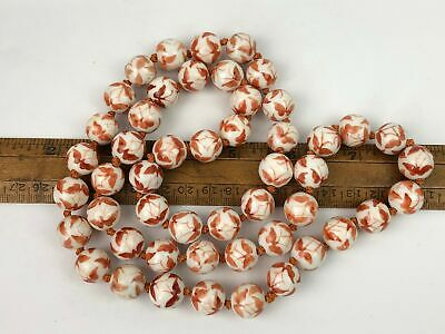 50 Chinese Hand Painted Porcelain Ceramic Butterfly Beads People's Republic Era