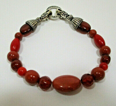New Carolyn Pollack Sterling Silver South West Stones Beads Bracelet