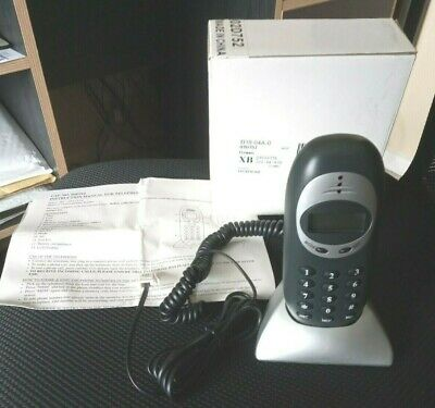 Compact Home Telephone Dark Grey colour with silver base