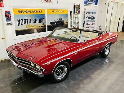 1969 Chevrolet Chevelle - SUPER SPORT CONVERTIBLE - BUILT IN CANADA - 4 SP Red Chevrolet Chevelle with 89,783 Miles available now!