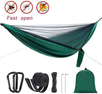 Camping Hammock with Mosquito Net Lightweight Double Hammock 660 lbs Portable