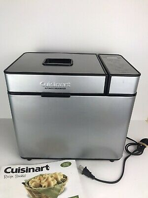 Cuisinart Fully Automatic Bread Maker CBK-100 Stainless Steel- Tested/Works