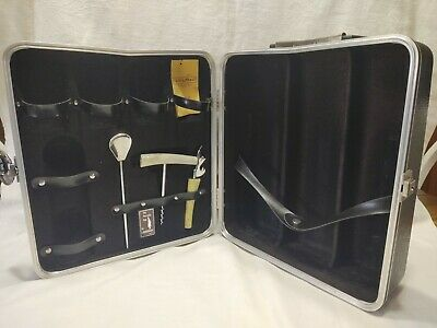 The Portable Pub by Londonaire Travel Briefcase Bar Mid Century Retro with key
