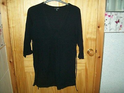 *** Next Maternity Black Crinkled Detailed Top Size  14***