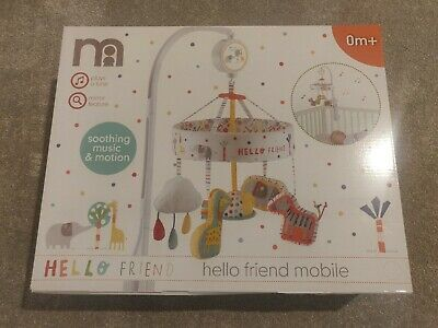 Baby Cot mobile Mothercare Hello Friend Safari Animals