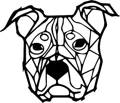 Geometric Wall Art Staffordshire Terrier Staffy Love Dog Animal Pet Home UK