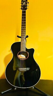 YAMAHA APX-5A Black Acoustic Electric Guitar with Hardshell Case
