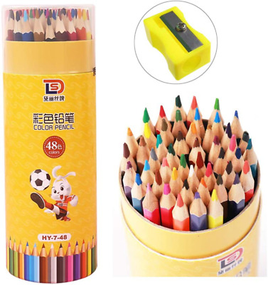 JJYHEHOT Colouring Pencils 48 Coloured Drawing Pencils Kids Adults Coloured Penc