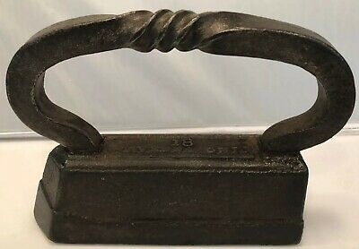 A.C. Williams &Co Ravenna Ohio - Cast Iron Sad Iron Press #18 -Twisted Handle