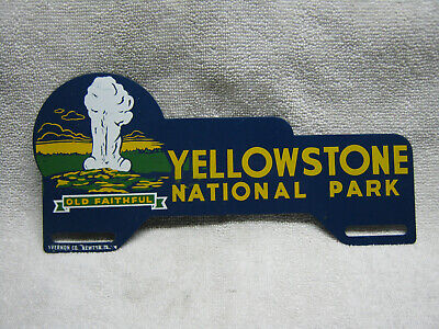 Antique Yellowstone National Park License Plate Topper